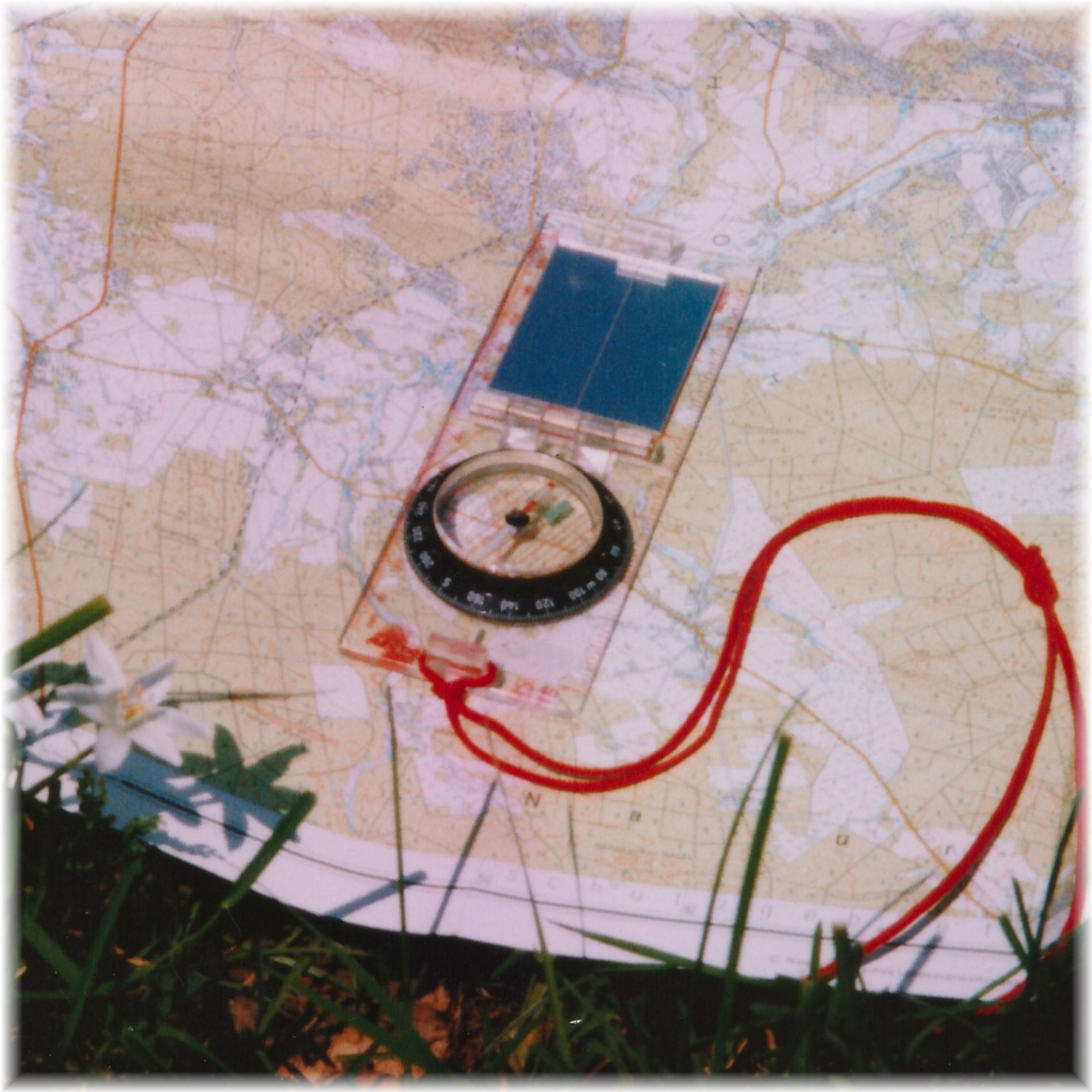 Karte-Kompass